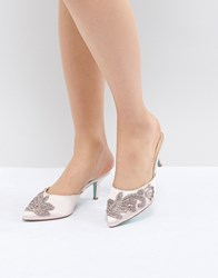 Blue By Betsey Johnson Betsy Blush Coset Embellished Heeled Mules Pink