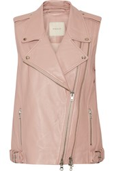 Mason By Michelle Mason Leather Vest Pink