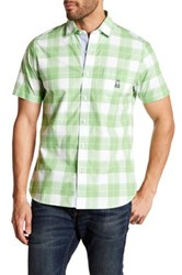 Psycho Bunny Plaid Short Sleeve Trim Fit Shirt Green