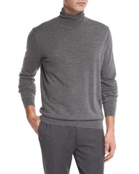 Vince Featherweight Turtleneck Sweater Heather Cinder H. Cinder