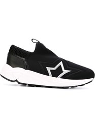Bruno Bordese Star Embroidered Sneakers Black