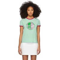 Marc Jacobs Green The Ringer T Shirt