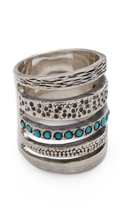 Pamela Love Single Cage Ring With Turquoise Silver Turquoise
