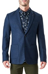 7 Diamonds Men's Crotone Casual Blazer Navy