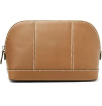 Connolly Leather Wash Bag Tan