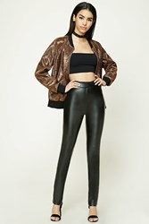 Forever 21 Faux Leather Skinny Pants Black