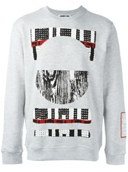 Mcq By Alexander Mcqueen Tribal Print Sweatshirt Grey