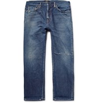Chimala Cropped Distressed Selvedge Denim Jeans Mid Denim