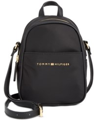 Tommy Hilfiger Juliette Nylon Mini Backpack Crossbody Black