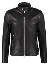 J. Lindeberg J.Lindeberg Trey Leather Jacket Black