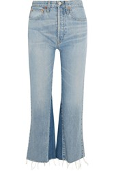 Re Done Originals The Leandra Cropped High Rise Flared Jeans Blue