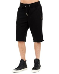 True Religion Solid Cotton Sweat Shorts Black