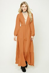 Forever 21 Tiered Maxi Dress Bronze