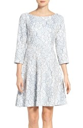 Eliza J Women's Embroidered Floral Fit And Flare Dress