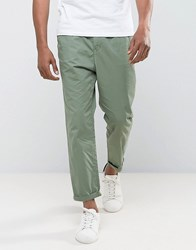 Tom Tailor Cropped Chino Green