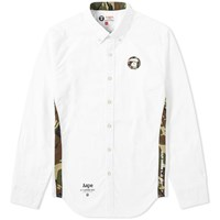 Aape By A Bathing Ape Embroidered Logo Oxford Shirt White