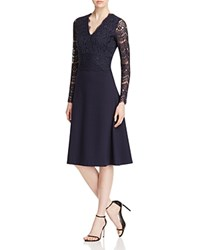 Escada Evianda Dondi Lace Overlay Dress Midnight Blue