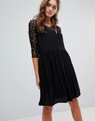 Pepe Jeans Lace A Line Midi Dress Black