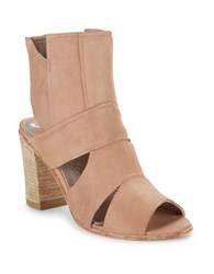 Free People Effie Open Toe Leather Booties Pink