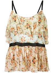 Jucca Floral Print Top Women Polyester Viscose 44