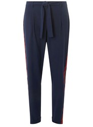 Dorothy Perkins Navy Side Striped Joggers Blue