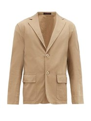 The Gigi Patch Pocket Cotton Gabardine Sports Jacket Beige