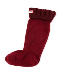 Hunter Six Stitch Cable Boot Socks Dulse Bordeaux Dulse Bordeaux