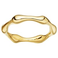 Missoma 18Ct Gold Vermeil Molten Ring Gold