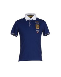 Aeronautica Militare Topwear Polo Shirts Men Blue