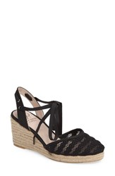 Adrianna Papell Women's 'Penny' Sandal Nero Lace