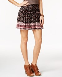 American Rag Printed A Line Skirt Only At Macy's Classic Black