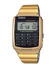 G Shock Casio Vintage Square Digital Watch Gold