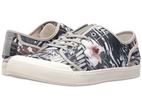 Sam Edelman Nate Grey Multi Printed Canvas Palms Men's Lace Up Casual Shoes Gray