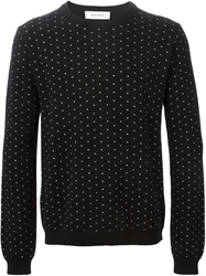 Mauro Grifoni Dotted Crew Neck Sweater Black