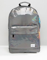 Spiral Backpack In Silver Rave Silver