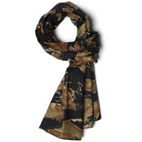 The Hill Side Cotton Ripstop Small Scarf Bleeding Tiger Camo