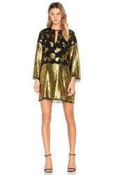 Rachel Zoe Iris Shift Dress Metallic Gold