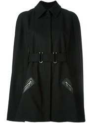 Thierry Mugler Cape Sleeves Coat Black