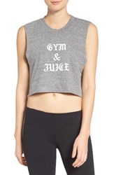 Private Party Women's Gym And Juice Crop Tank