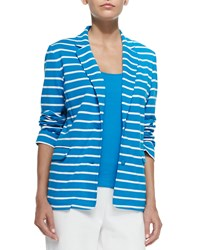 Joan Vass Striped Knit Jacket Women's