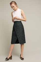 Anthropologie Lacy Pencil Skirt Green