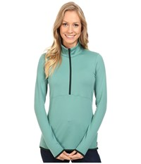 The North Face Empower Half Zip Top Deep Sea Women's Long Sleeve Pullover Navy