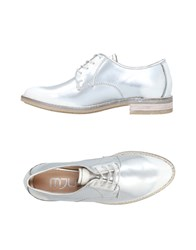 Mjus Lace Up Shoes Silver