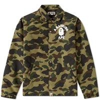 A Bathing Ape 1St Camo College Coach Jacket Green