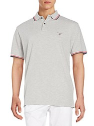 Gant Regular Fit Contrast Trim Cotton Polo Shirt Grigio