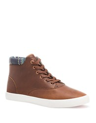 Bucketfeet Baskerville 4 Leather Lace Up Sneakers Brown