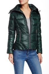 Guess Funnel Neck Short Down Jacket Green