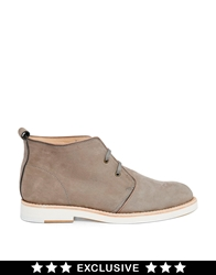 Whistles Exclusive Robyn Desert Ankle Boots Grey