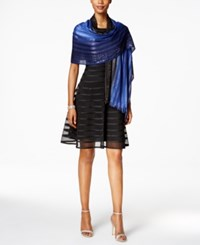 Echo Ombre Sequined Wrap Sapphire