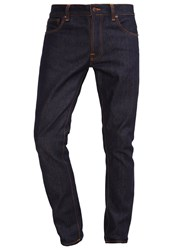 Nudie Jeans Dude Dan Straight Leg Dry Classic Navy Rinsed Denim